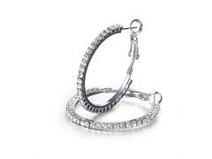 Mestige Crystal Hoop Earrings