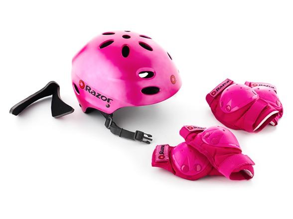 Razor Helmet Amp Pad Combo Satin Pink Sport Woot