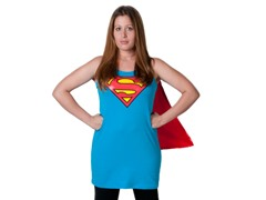 Supergirl Sleep Tank with Cape (S or M)