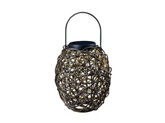 Design Craft Tangle Solar Lantern, Black