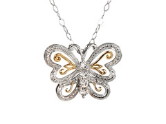 Sterling Silver & Diamond Butterfly