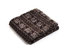 Jacquard Blanket Throw - Brown