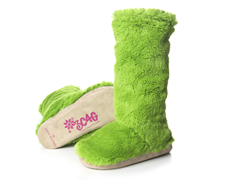 Lime Fuzzy Boots