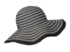 Espanola Way Ribbon Sun Hat, Black