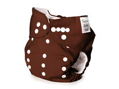 Brown Adjustable Cloth Diaper