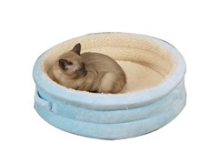 """Savvy Tabby Nestle Bed 22"""" - Baby Blue"""