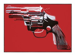 Guns, 1981-82 (white and black on red)