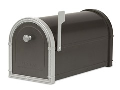 Bellevue Mailbox, Black with Platinum