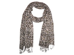 Kitara  Animal Print Scarf Brown, White & Black