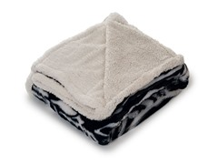 Fleece Sherpa Blanket Throw - Zebra