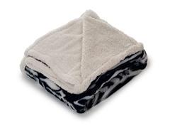 Fleece Sherpa Blanket Throw - Zebra