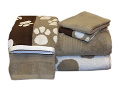 Egyptian Cotton 6-Pc Towel Set-Dog Paw
