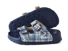 Blue Plaid 'Haiti' Sandal