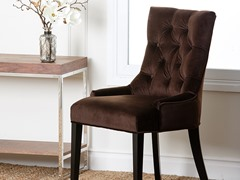 Casablanca Brown Tufted Dining Chair