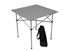 Tall Aluminum Table, Silver