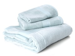 Bamboo Viscose 3-pc Towel Set - Sky Blue