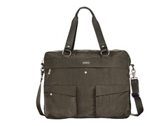 Baggallini Executive Satchel, Dark Olive