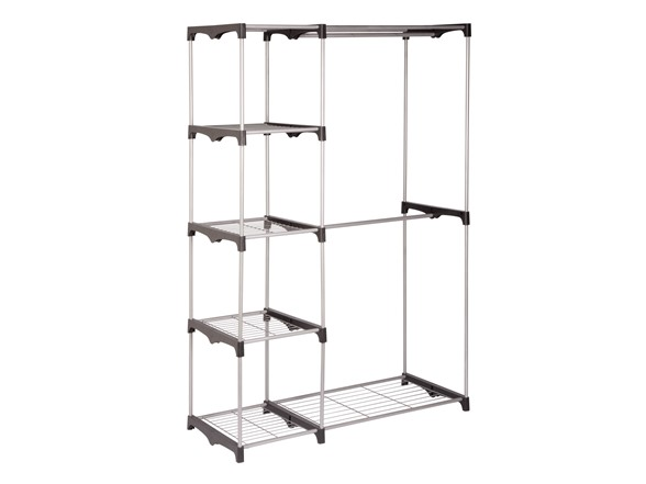 double rack freestanding closet