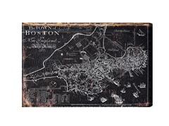 Town of Boston Map 1722 (Mulitple Sizes)