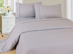 Lavish Home Sheet Set - Silver - 4 Sizes