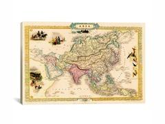 Antique Map of Asia ca 1851 26x18