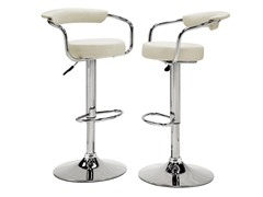 Homelegance Padded Stool White 2pk