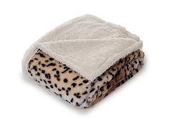 Fleece Sherpa Blanket Throw - Tiger