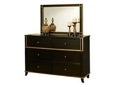 Soho 6 Drawer Dresser with Mirror