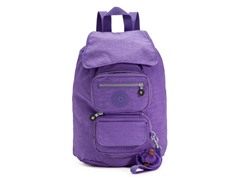 Alicia Foldable Medium Backpack, Vivid Purple