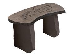 Cast Stone Memorial Garden Bench