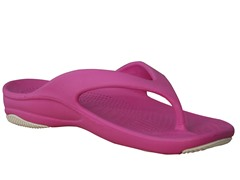 Women's Premium Flip Flop, Hot Pink / White