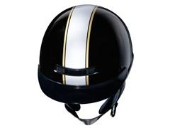 GLX Silver Stripe Half Helmet