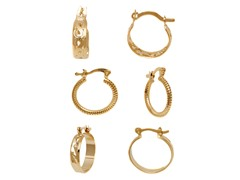 Gold Set of 3 Hoop Earrings