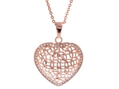 14K Rose Gold Plated Heart