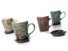Reactive Glaze Coffee Mugs - Set of 4