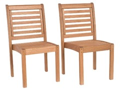 Eucalyptus Stackable Chair without Arms