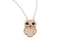 18kt Rose Gold Plated Owl Necklace