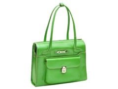 Wenonah Leather Ladies Briefcase - Green