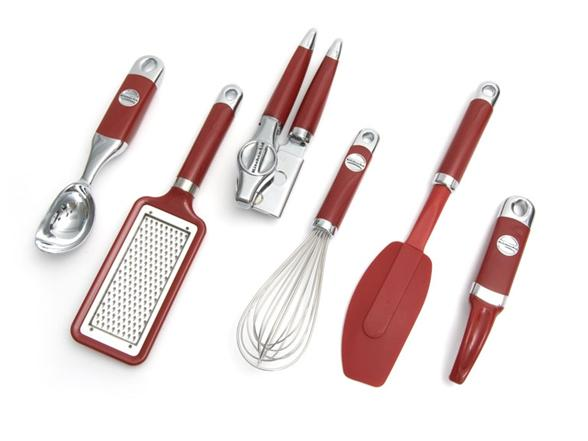 Kitchenaid 6 piece kitchen gadget set for Lagostina kitchen tool set 8 pc