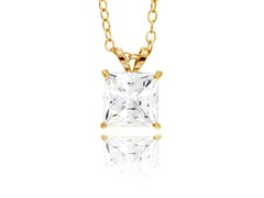 10kt Yellow Gold CZ Necklace