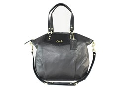 Ashley Leather N/S Satchel, Black