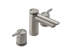 Two Handle Widespread Faucet, Stainless