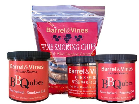 Barrel & Vines Smoking Chips Sampler on ar wood, no wood, bg wood, my wood, mr wood, ax wood, ms wood, post wood,