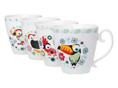 Signature 15oz Bird Mugs - Set of 4