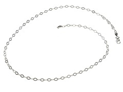 Sterlilng Silver Oval Drop Chain