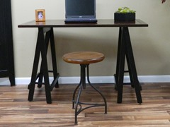 Antique Workman Desk or Logan Stool