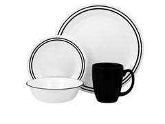 Corelle Livingware 16pc Set - Black