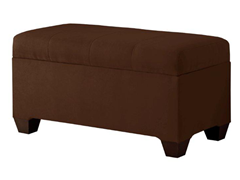 Upholstered Storage Bench - Chocolate