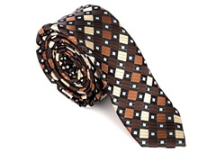 Skinny Tie Madness Brown Crown