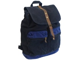 J Campbell Backpack, Black with Blue Acc